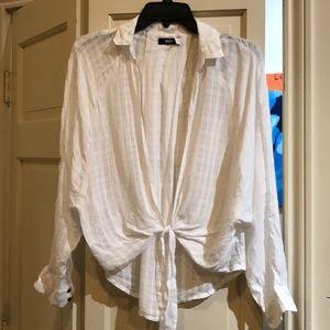 BDG urban outfitters white airy shirt medium
